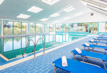 Wellness and indoor pool with sea water