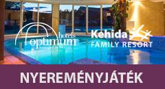 Iratkozzon fel az Optimum Hotels hírlevelére, és nyerjen 2 éjszakát a Kehida Family Resortba!